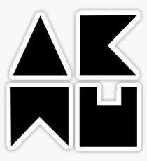 AKMU - logo black Sticker
