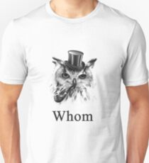 Whom Owl, the gentleman bird T-Shirt