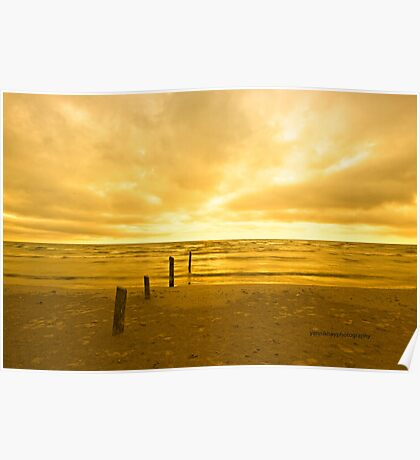 Sunset on Sauble Beach Poster