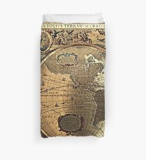 Old Map Duvet Cover