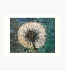 Distressed dandelion Art Print