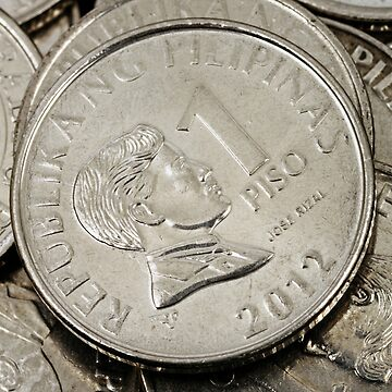 A close up image of Filipino coins by tethysimaging