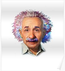 Albert Einstein - Galaxy Poster