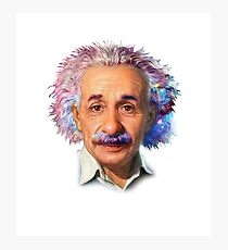 Albert Einstein - Galaxy Photographic Print
