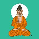 Buddha Pixel Art by artkarthik