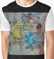 Ghetto Sesame Streets Graphic T-Shirt