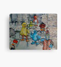 Ghetto Sesame Streets Canvas Print