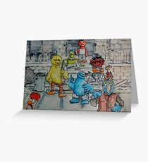 Ghetto Sesame Streets Greeting Card