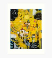 Dont Run, Basquiat! Art Print
