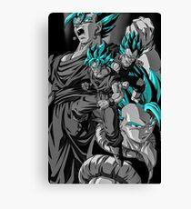 Vegeta and Goku SSB Fusions Canvas Print