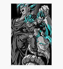 Vegeta and Goku SSB Fusions Photographic Print