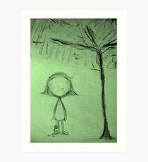 Umbrella Tree Art Print
