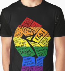 National March Of Pride Fist Graphic T-Shirt