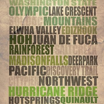 Port Angeles Poster by LizzieMorrison