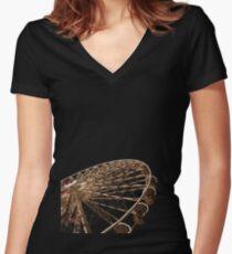 wheel Women's Fitted V-Neck T-Shirt