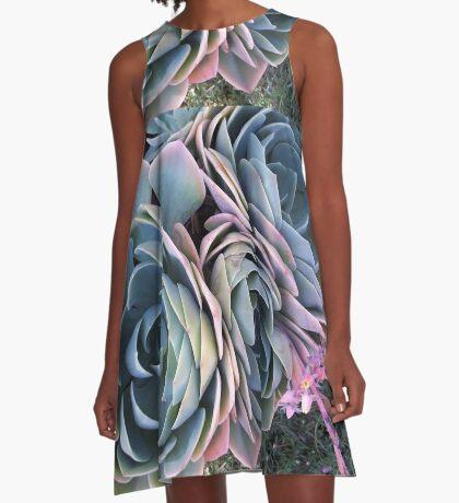Autumn Echeveria imbricata A-Line Dress