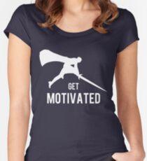 Motiviert werden Tailliertes Rundhals-Shirt