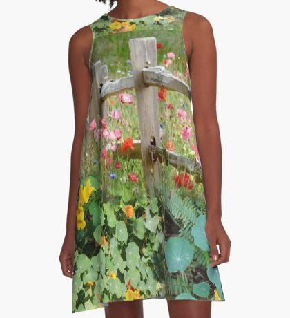 Nasturtium fields A-Line Dress