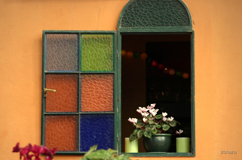 colorful window by zohara