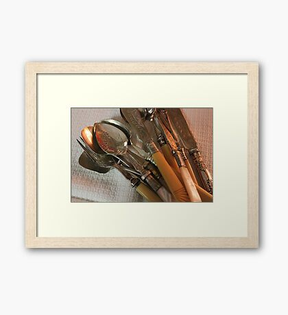 Vintages - The pleasure of collecting Framed Print