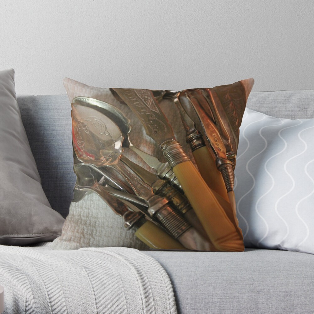 Vintages - The pleasure of collecting Throw Pillow