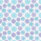 Mandalas in Blue & Lavender by sacil armstrong