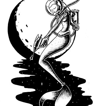 The Astro Mermaid by Fatink