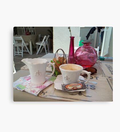My daily fix at Bistrot de Paris and Une Belle-Vous Canvas Print