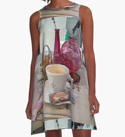 My daily fix at Bistrot de Paris and Une Belle-Vous A-Line Dress