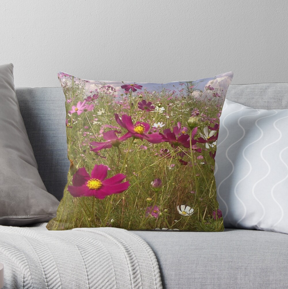Crawling among the Cosmos Throw Pillow