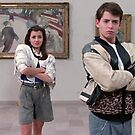 Cam, Sloane, and Ferris visit the museum in 1986. by scohoe