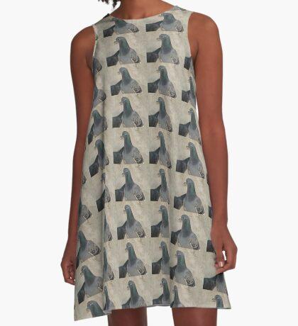 Mask - Love for Pigeons A-Line Dress