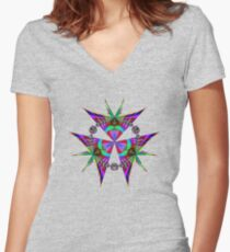 Kites Fitted V-Neck T-Shirt