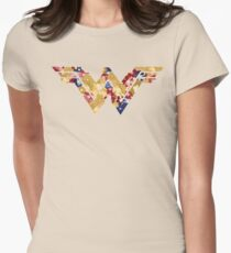 floral double u Womens Fitted T-Shirt