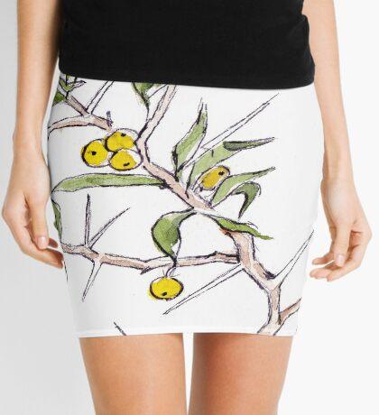 Kei-apple and a Chameleon - Botanical illustration Mini Skirt