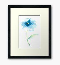 Watercolour Flower Framed Print