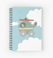H is for Helicopter Spiral Notebook
