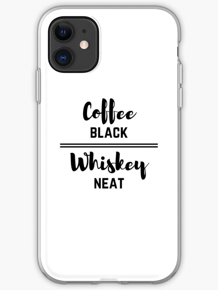 Coffee black iphone case