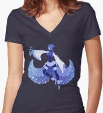 Blue Aqua Women's Fitted V-Neck T-Shirt