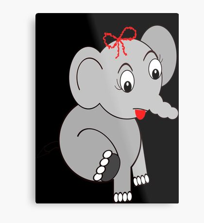 Elephant (3913 Views) Metal Print