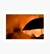 Fire & umberella Art Print
