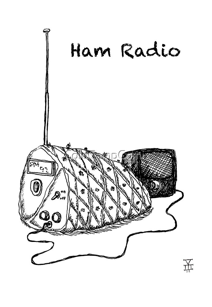 Ham Radio (BW) by ColdCampComix