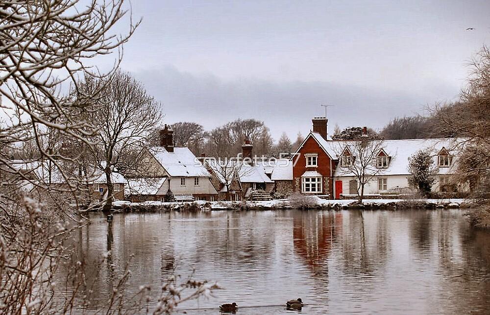 winter scene by smurfette57