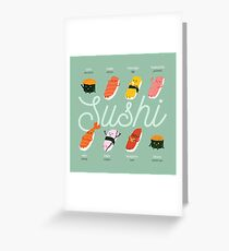 Sushi Kawaii Greeting Card