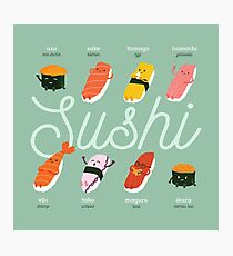 Sushi Kawaii Photographic Print