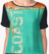 """Fragile Coast"" Women's Chiffon Top"