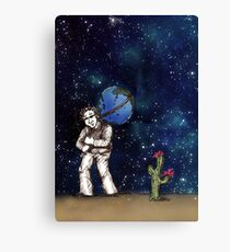 Weight of the World on His Shoulders, Too Canvas Print