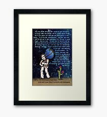 Weight of the World on His Shoulders Framed Print