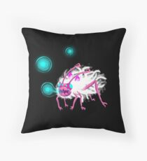 Digital Furry Aphid Throw Pillow