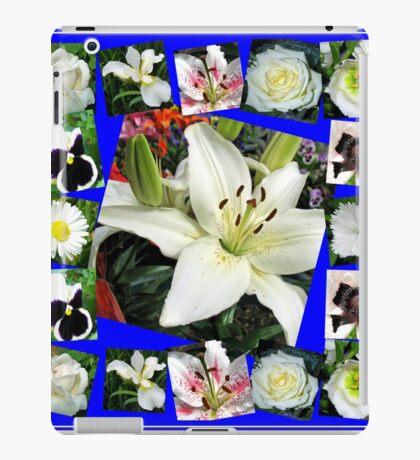 White Delight - Summer Flowers Collage iPad-Hülle & Klebefolie